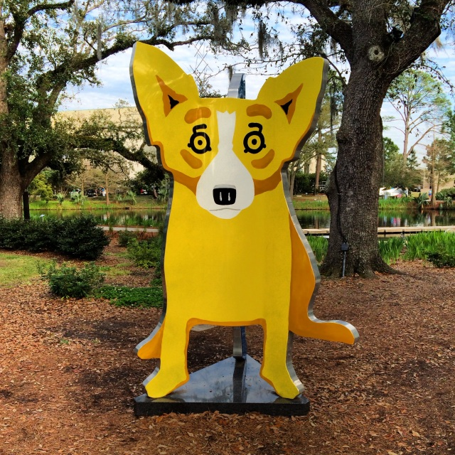 The art of George Rodrigue is all over NOLA.