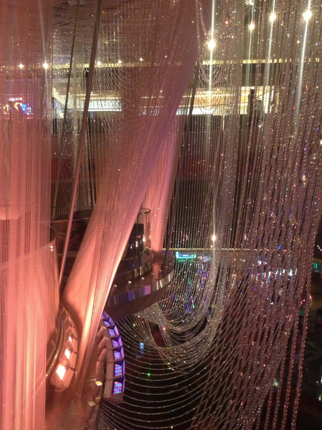 The Chandelier Bar at the Cosmopolitan.