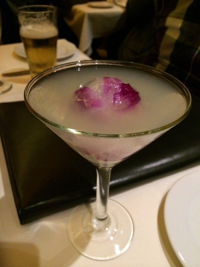 The Black Orchid at Ocean Club. Made from St. Germain Elderflower Liquor.