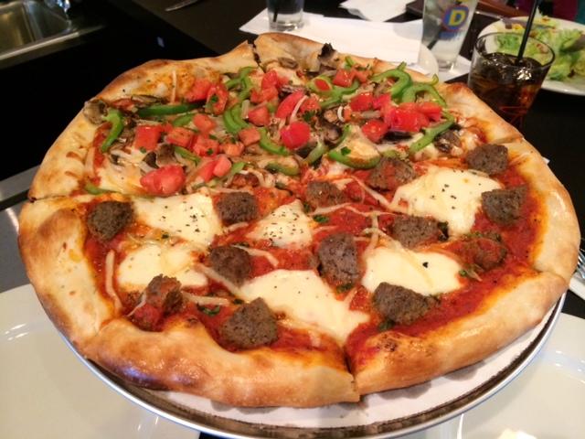 Dewey's Meatball and Killer Veggie Pizza