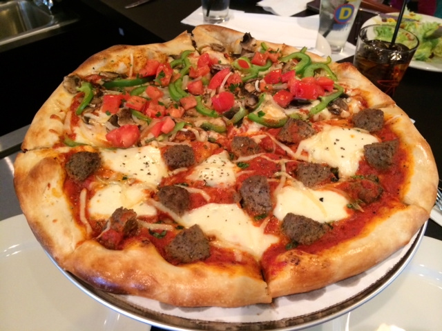Dewey's Meatball and Killer Veggie Pizza