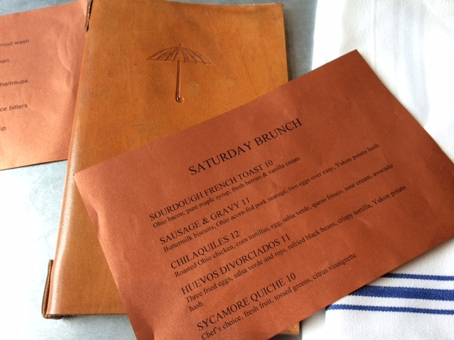 The Sycamore Brunch Menu