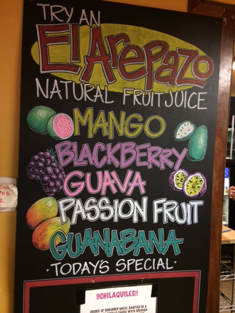 Fresh juices at El Arepazo Latin Grill