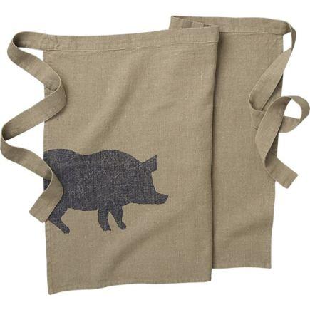 crate and barrel pig apron