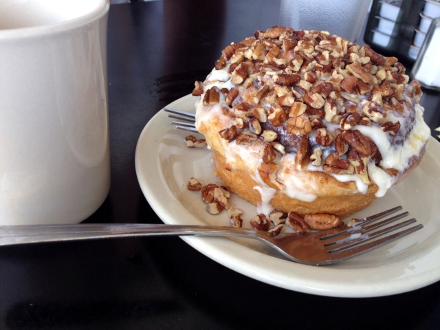 cinnamon roll wildflower cafe