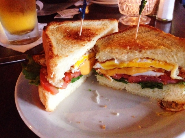 Club 185 egg sandwich