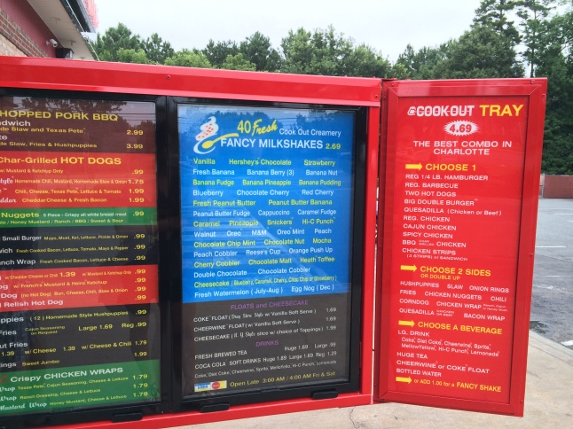 Cookout Menu